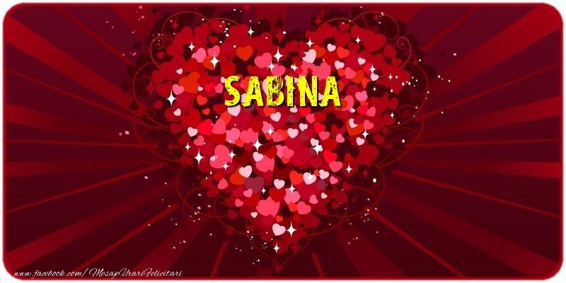 Felicitari de dragoste | Sabina