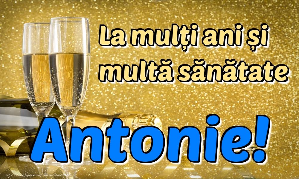 Felicitari de la multi ani | La mulți ani multă sănătate Antonie!