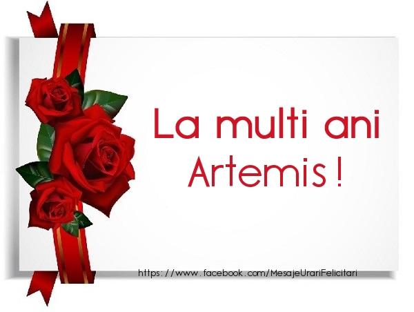 Felicitari de la multi ani | La multi ani Artemis