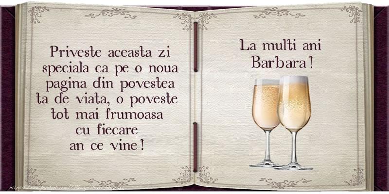Felicitari de la multi ani   La multi ani Barbara!