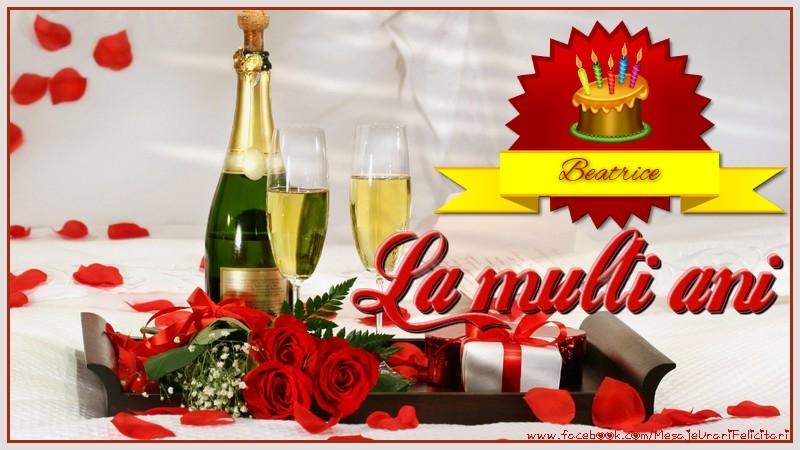 Felicitari de la multi ani | La multi ani, Beatrice