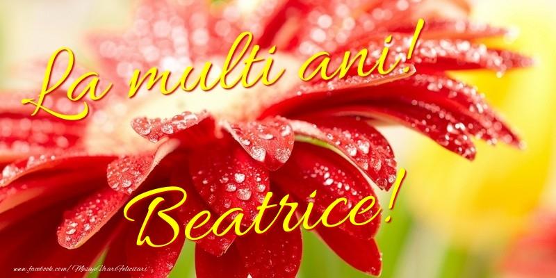 Felicitari de la multi ani | La multi ani! Beatrice