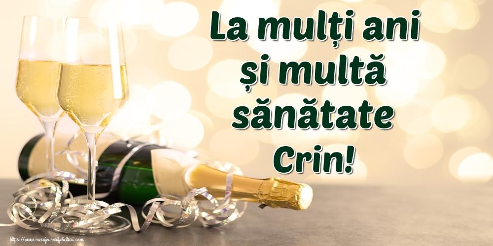 Felicitari de la multi ani | La mulți ani și multă sănătate Crin!