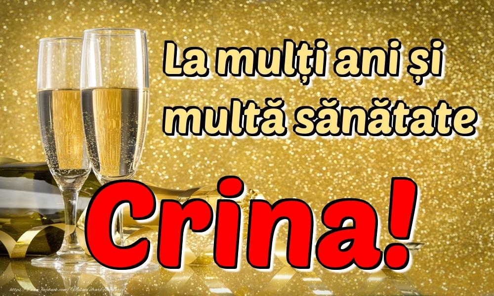 Felicitari de la multi ani | La mulți ani multă sănătate Crina!