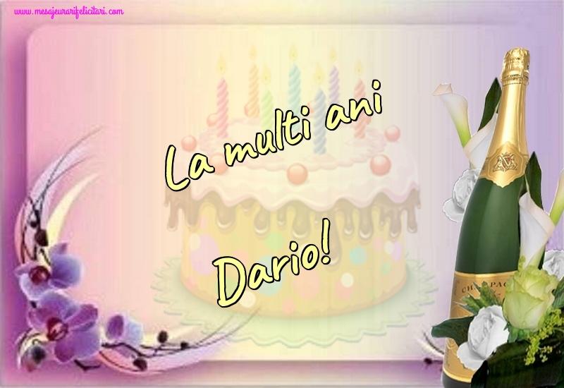 Felicitari de la multi ani | La multi ani Dario!