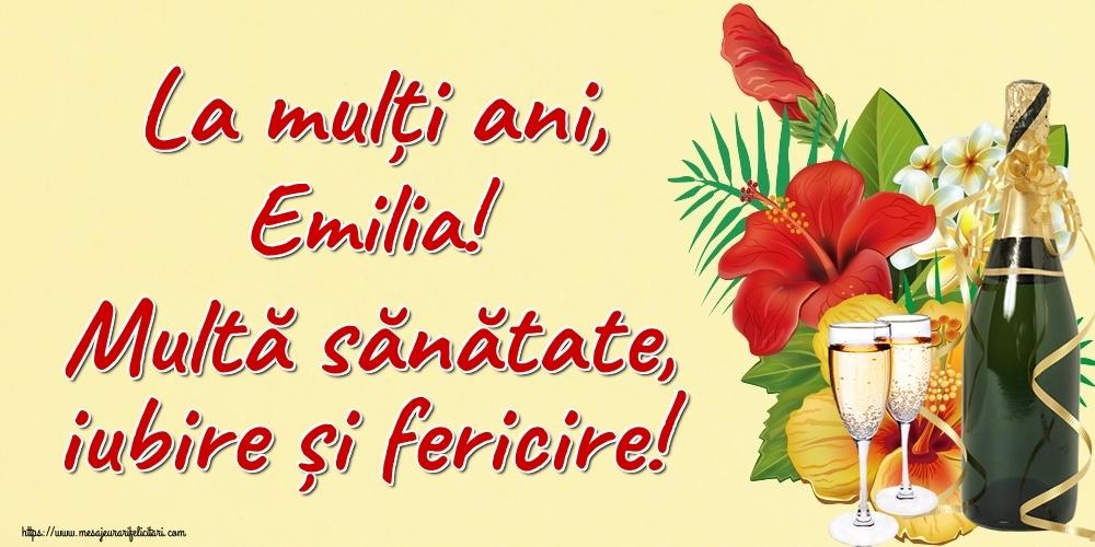 Felicitari de la multi ani | La mulți ani, Emilia! Multă sănătate, iubire și fericire!