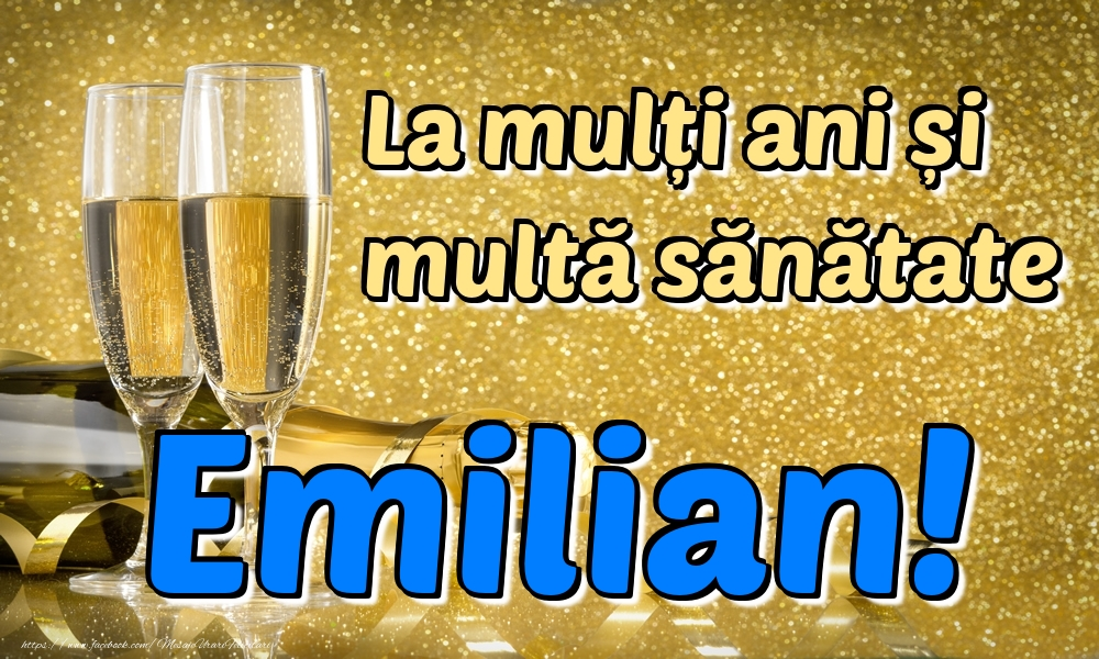 Felicitari de la multi ani | La mulți ani multă sănătate Emilian!