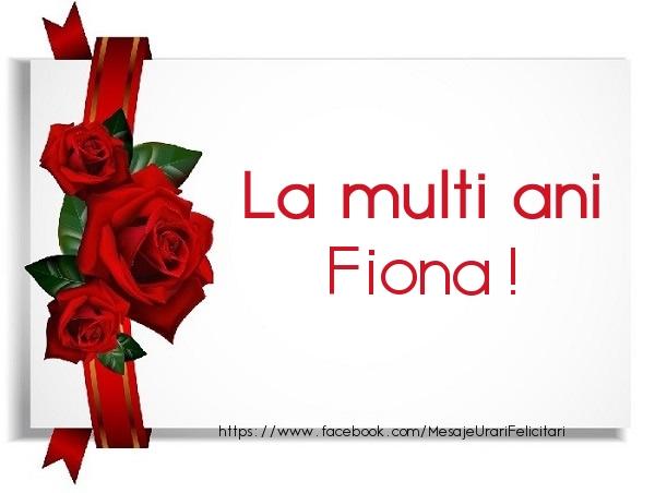 Felicitari de la multi ani | La multi ani Fiona