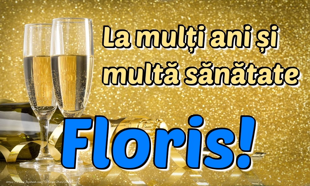 Felicitari de la multi ani | La mulți ani multă sănătate Floris!