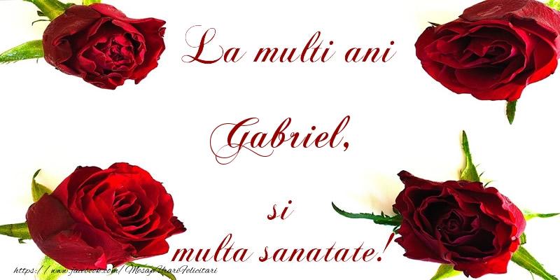 Felicitari de la multi ani | La multi ani! Gabriel Sanatate multa!