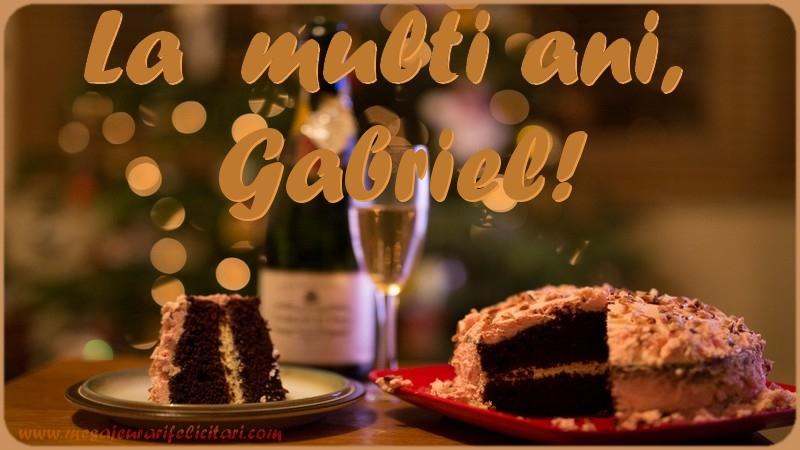 Felicitari de la multi ani | La multi ani, Gabriel!