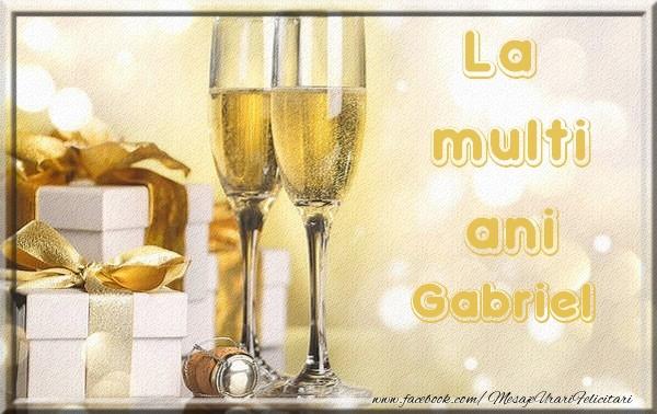 Felicitari de la multi ani | La multi ani Gabriel