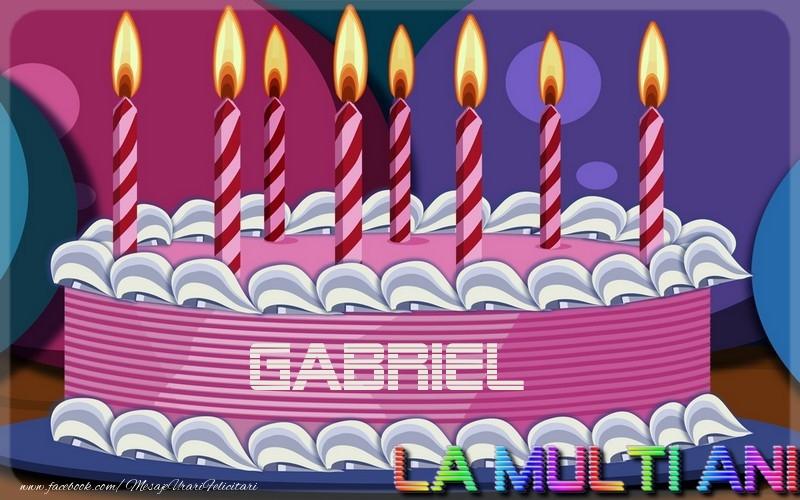 Felicitari de la multi ani | La multi ani, Gabriel