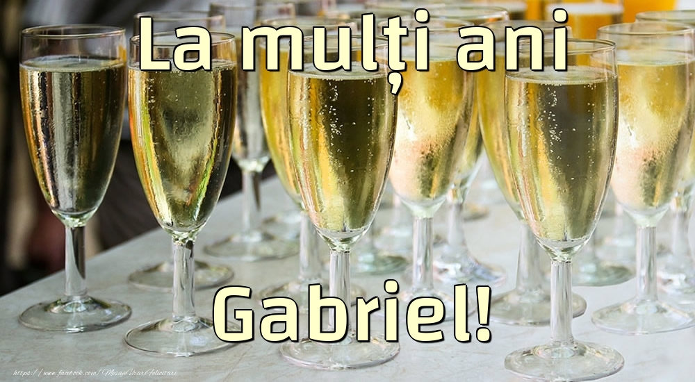 Felicitari de la multi ani | La mulți ani Gabriel!