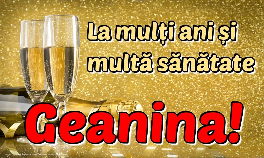 Felicitari de la multi ani | La mulți ani multă sănătate Geanina!