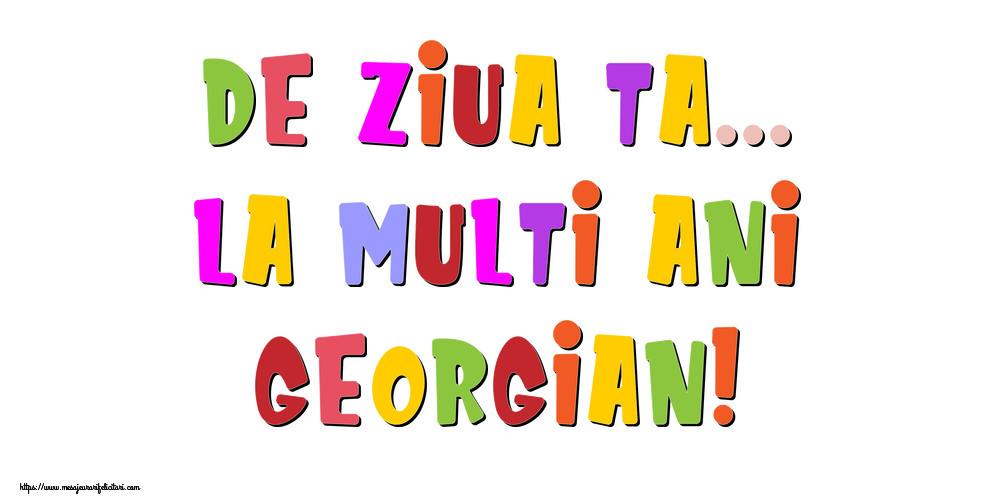 Felicitari de la multi ani | De ziua ta... La multi ani, Georgian!
