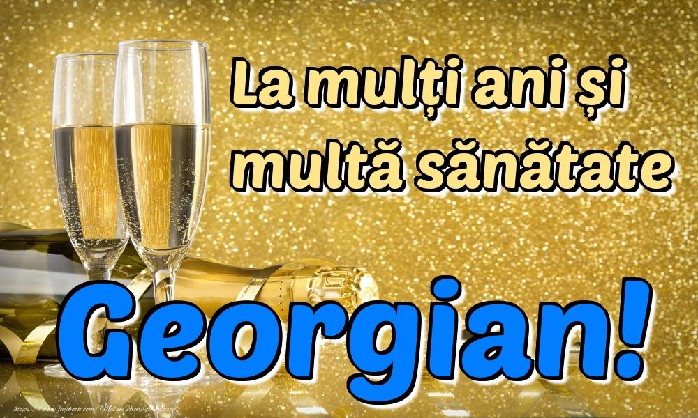 Felicitari de la multi ani | La mulți ani multă sănătate Georgian!