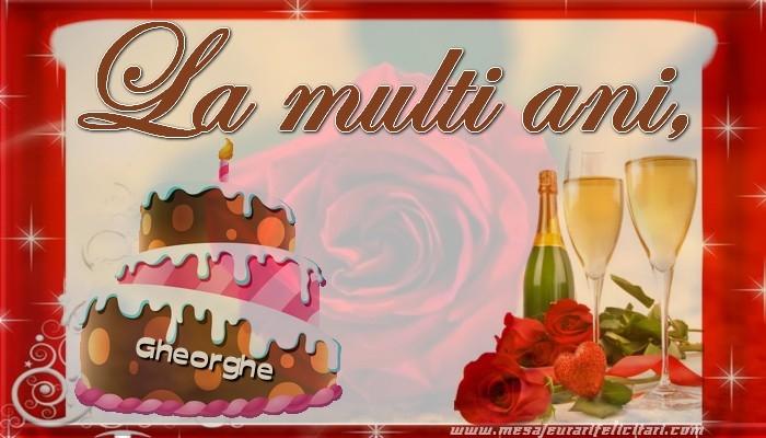 Felicitari de la multi ani | La multi ani, Gheorghe!