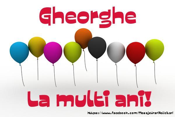 Felicitari de la multi ani | Gheorghe La multi ani!