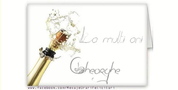 Felicitari de la multi ani   La multi ani, Gheorghe