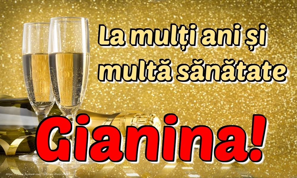 Felicitari de la multi ani | La mulți ani multă sănătate Gianina!