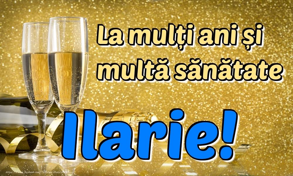 Felicitari de la multi ani | La mulți ani multă sănătate Ilarie!
