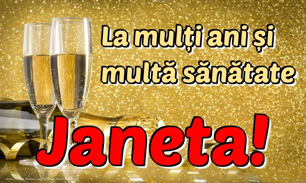 Felicitari de la multi ani | La mulți ani multă sănătate Janeta!