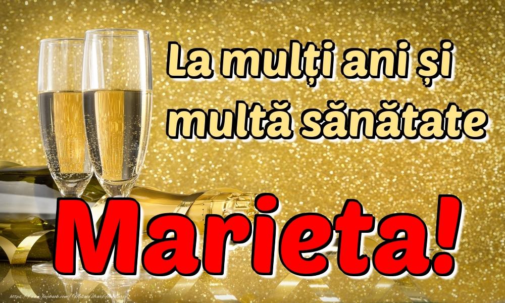 Felicitari de la multi ani | La mulți ani multă sănătate Marieta!
