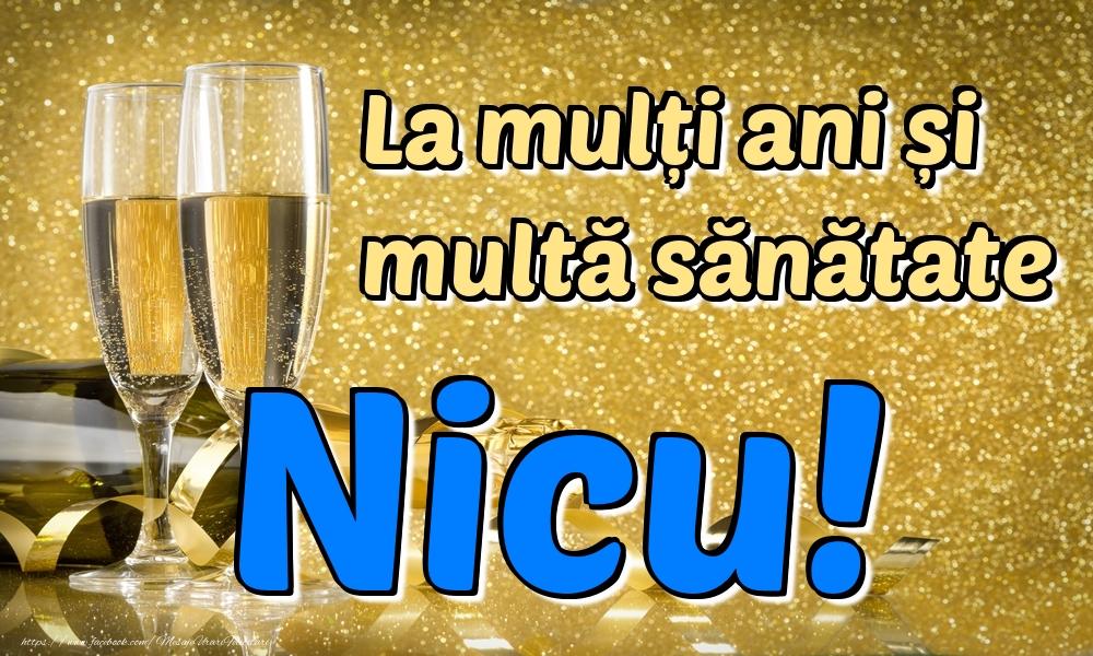 Felicitari de la multi ani | La mulți ani multă sănătate Nicu!