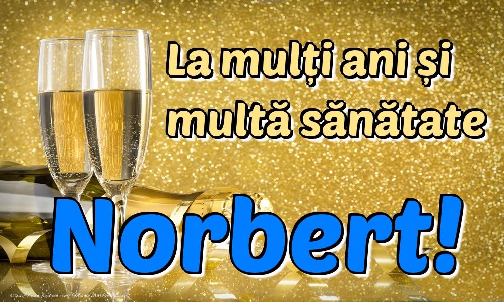 Felicitari de la multi ani | La mulți ani multă sănătate Norbert!