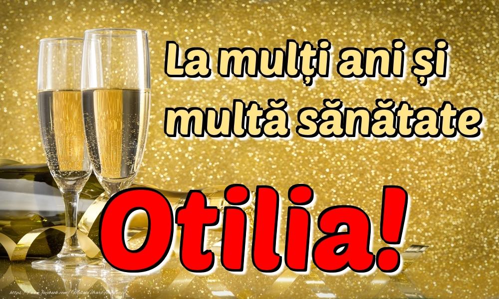 Felicitari de la multi ani | La mulți ani multă sănătate Otilia!