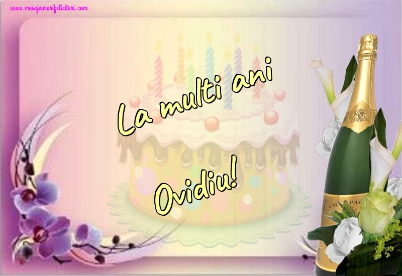 Felicitari de la multi ani | La multi ani Ovidiu!