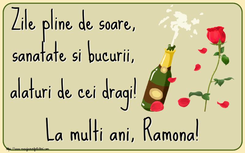 Felicitari de la multi ani | Zile pline de soare, sanatate si bucurii, alaturi de cei dragi! La multi ani, Ramona!
