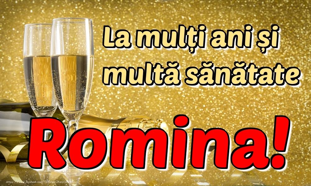 Felicitari de la multi ani | La mulți ani multă sănătate Romina!