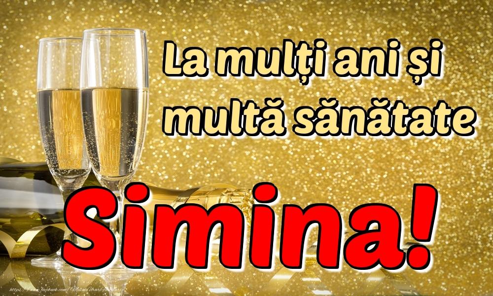 Felicitari de la multi ani | La mulți ani multă sănătate Simina!