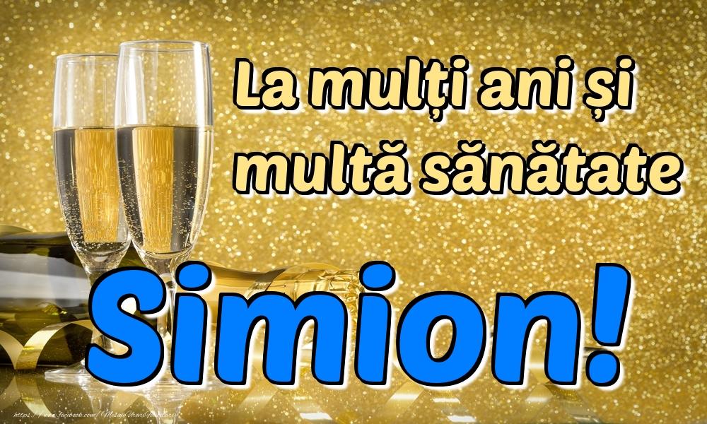 Felicitari de la multi ani | La mulți ani multă sănătate Simion!