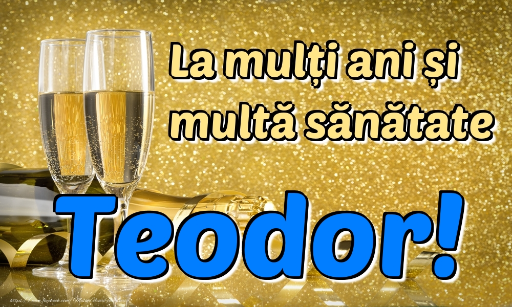Felicitari de la multi ani | La mulți ani multă sănătate Teodor!
