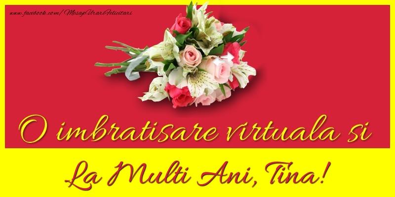 Felicitari de la multi ani   O imbratisare virtuala si la multi ani, Tina