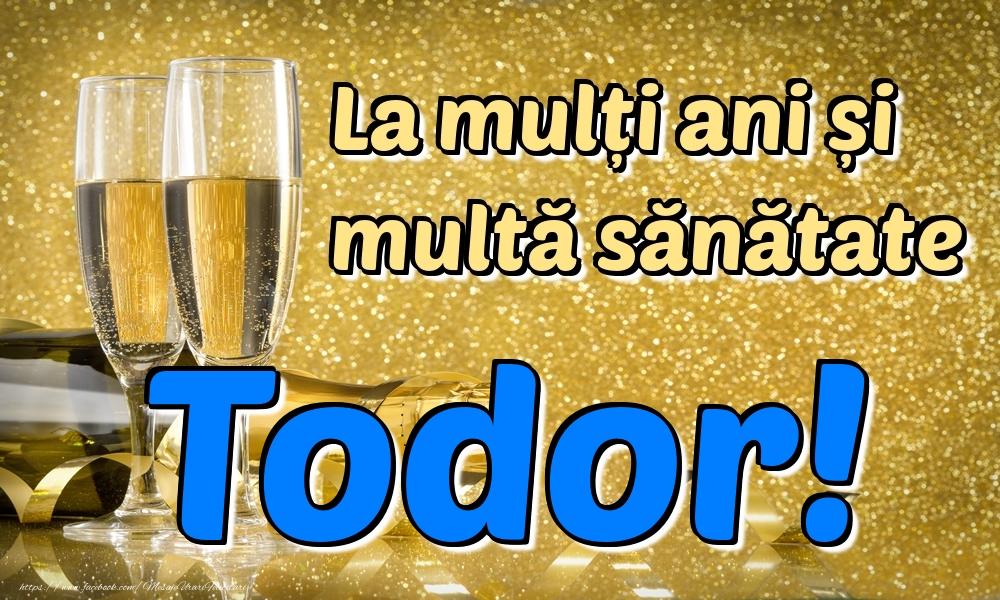Felicitari de la multi ani | La mulți ani multă sănătate Todor!