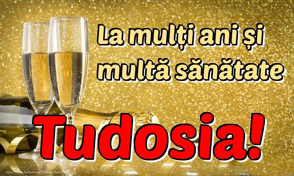 Felicitari de la multi ani | La mulți ani multă sănătate Tudosia!