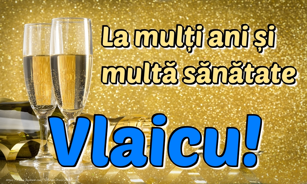 Felicitari de la multi ani | La mulți ani multă sănătate Vlaicu!