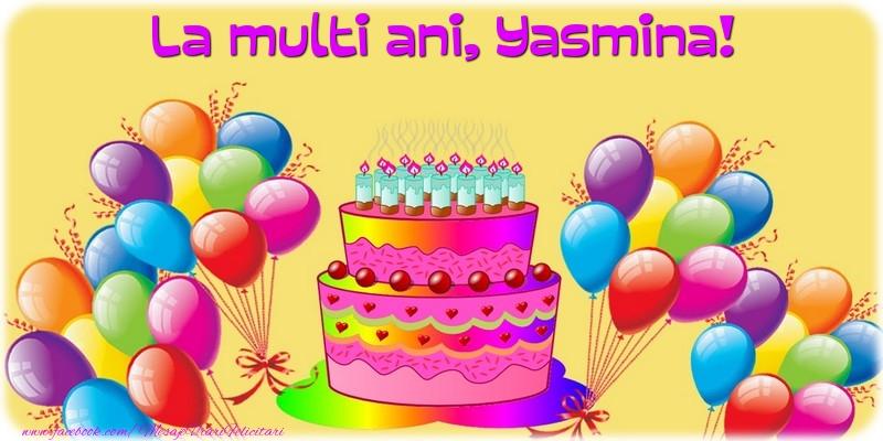 Felicitari de la multi ani   La multi ani, Yasmina!