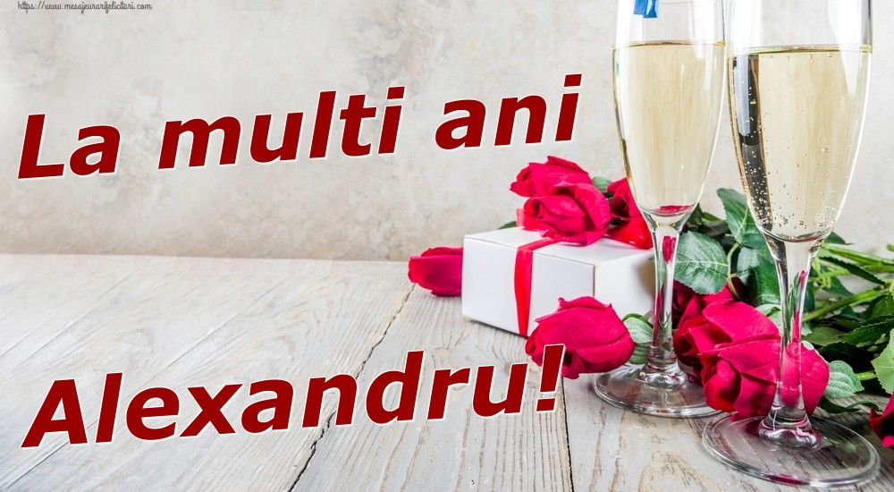 Felicitari de zi de nastere   La multi ani Alexandru!
