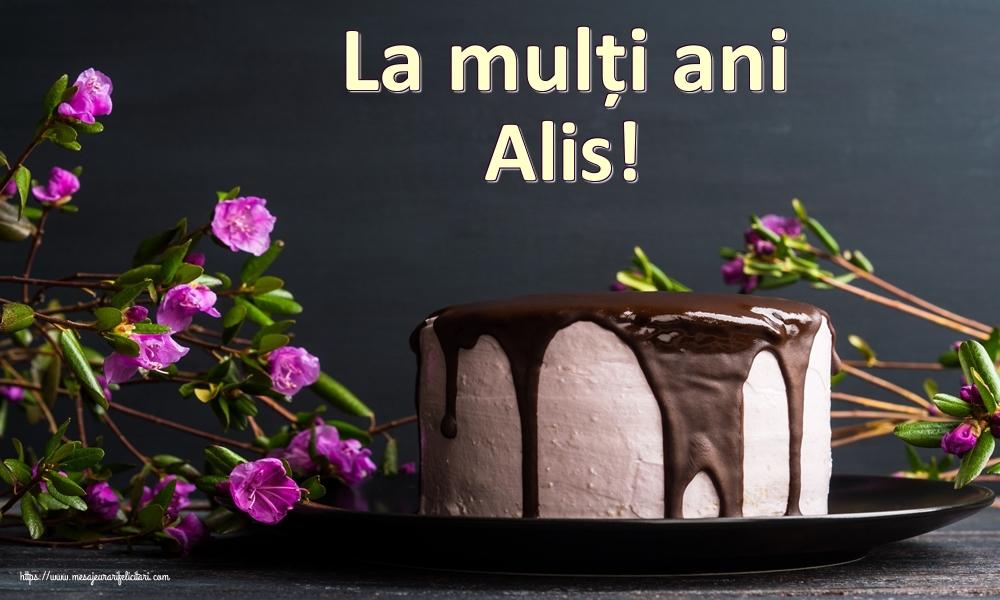 Felicitari de zi de nastere | La mulți ani Alis!