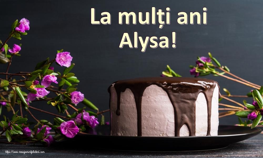 Felicitari de zi de nastere | La mulți ani Alysa!