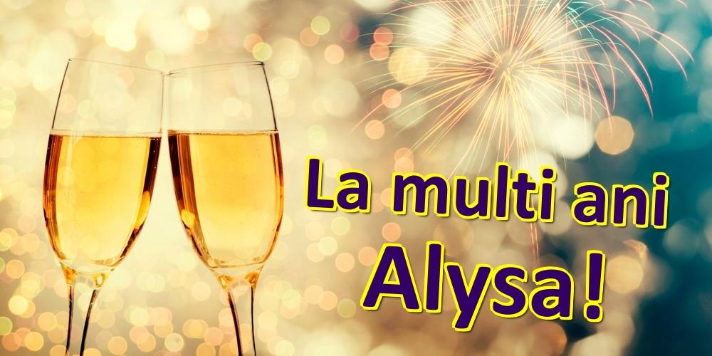 Felicitari de zi de nastere | La multi ani Alysa!