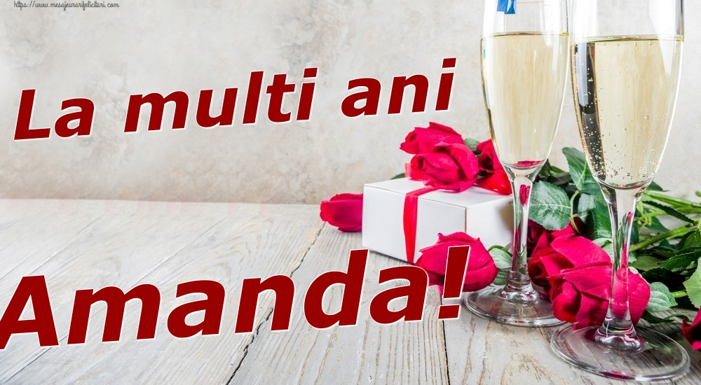Felicitari de zi de nastere | La multi ani Amanda!