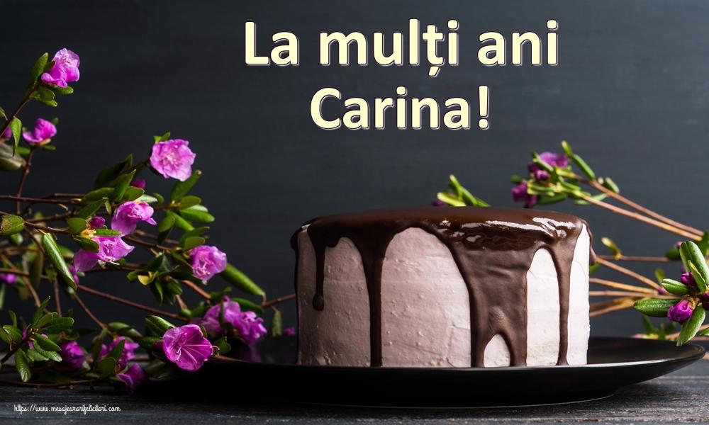 Felicitari de zi de nastere | La mulți ani Carina!