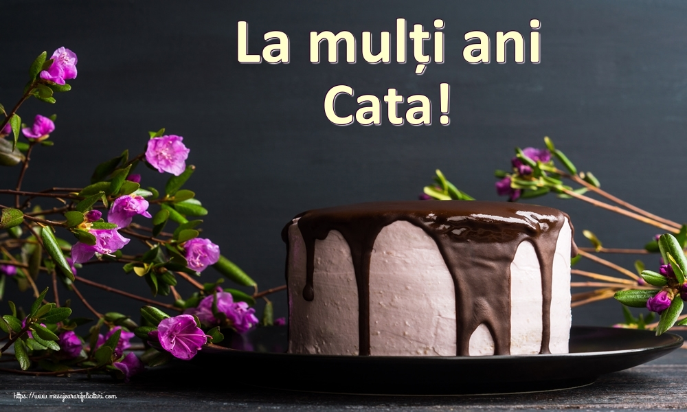 Felicitari de zi de nastere   La mulți ani Cata!