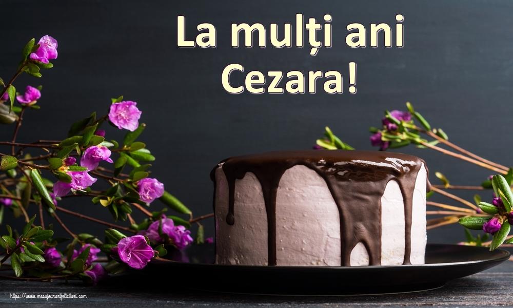 Felicitari de zi de nastere   La mulți ani Cezara!